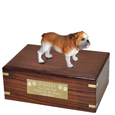 Pet Urns: Bulldog Figurine Wood Urn
