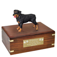 Pet Urns: Rottweiler Figurine Wood Urn