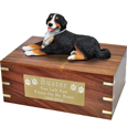 Pet Urns: Bernese Mountain Dog -Laying