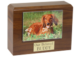 Photo Urn: Walnut Photo Holder