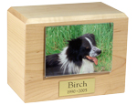 Pet Photo Urn: Maple Photo Holder