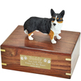 Pet Urns: Welsh Corgi Cardigan Figurine Wood Urn
