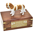 Pet Urns: Cavalier King Charles Spaniel Figurine Wood Urn