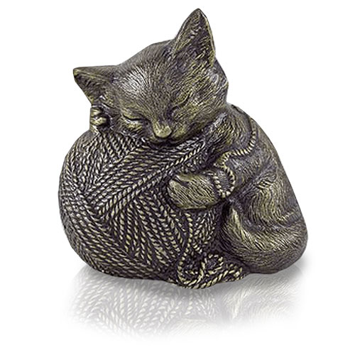 Cat Urn - Precious Kitty, Bronze