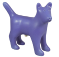 Dog Figure Ceramic Cremation Urn (shown in periwinkle)