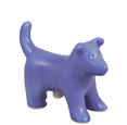 Puppy Figure Ceramic Cremation Urn Keepsake (shown in periwinkle)