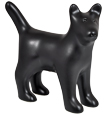 Dog Figure Ceramic Cremation Urn (shown in black)