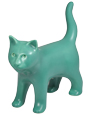 Kitty Figure Ceramic Cremation Urn Keepsake (shown in jade)