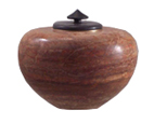 Sculpture Pet Urn Zuni Alabaster with African Wonderstone
