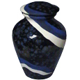 Ceramic Dog Urn: Waves