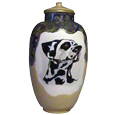 Ceramic Dog Urn: Precious- Custom pet portrait!