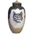 Ceramic Cat Urn: Precious- Custom pet portrait!