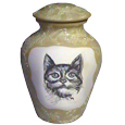 Ceramic Cat Urn: Smokey's Melody