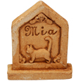 Cat Gravestone with 3D Name