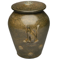 Cat and Flowers Artisan Pet Urn