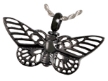 Pet Cremation Jewelry Stainless Steel Nocturnal Butterfly