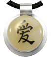 Pet Memory Pendant: Love Chinese Character in Yellow