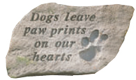 Garden Stone Pet Memorial: Dogs Leave Paw Prints