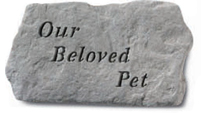Garden Stone Pet Memorial: Our Beloved Pet
