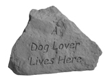 Garden Stone Dog Memorial: A Dog Lover Lives Here, Heart