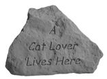 Garden Stone Cat Memorial: A Cat Lover Lives Here, Heart