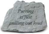 Garden Stone Cat Memorial: Purring is smiling