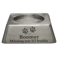 Square Pet Urn Base Matte Pewter