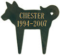 Dog Silhouette Memorial Marker