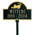 Cat Mini Arch Memorial Marker