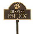 Pet Paw Mini Arch Memorial Marker