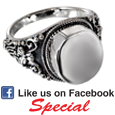 Pet Cremation Jewelry: Sterling Silver Round Ring