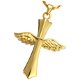 Pet Cremation Jewelry: Winged Cross
