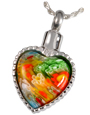 Pet Cremation Jewelry Art Glass Heart Pendant
