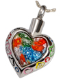Pet Cremation Jewelry Art Glass Heart Pendant 2