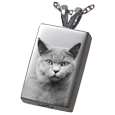 Photo Laser Engraved Cremation Jewelry: Perfect Rectangle