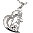 Pet Cremation Jewelry: In My Heart Dog Pendant