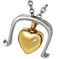 Pet Cremation Jewelry Stainless Steel Bold Heart