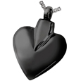 Pet Cremation Jewelry: Black Modern Heart