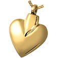 Pet Cremation Jewelry: Brass Modern Heart