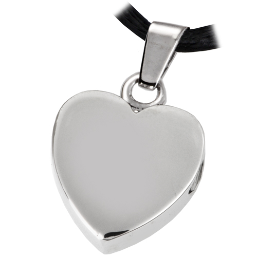 Pet cremation jewelry stainless steel remembrance heart for Stainless steel cremation jewelry