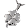 Pet Cremation Jewelry Stainless Steel Hearts of Clover