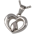 Pet Cremation Jewelry Stainless Steel Tear of Love- Center of the Heart