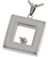 Pet Cremation Jewelry Stainless Steel Heart of Center