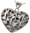 Pet Cremation Jewelry Stainless Steel Heart of Hearts
