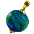 Pet Cremation Jewelry: Swirling Galaxy Pendant Ocean