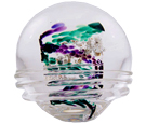 et Memorial: Purple & Green Memory Glass Keepsake Urn