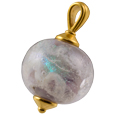 Pet Cremation Jewelry: Swirling Galaxy Pendant Pink