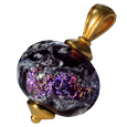 Pet Cremation Jewelry: Swirling Galaxy- Dark Plum