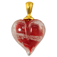 Pet Cremation Jewelry: Red Loving Memory Heart Pendant