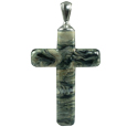 Pet Cremation Jewelry: Black Granite Cross
